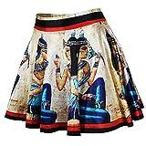 Frauen Mode Alte ägyptische Kultur Gedruckt Grundlegende Vielseitige Flackerten Röcke