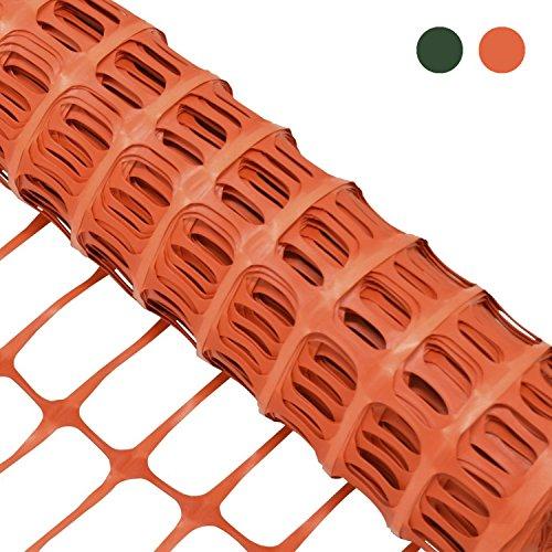 Woodside - Kunststoff-Hühnerzaun - Maschengewebe - Orange - 1 x 50 m (H x L)