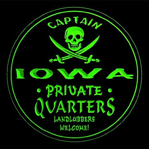 4x ccpw2015-g IOWA Captain Quarters Pirate Skull Bar Beer 3D Drink Coasters
