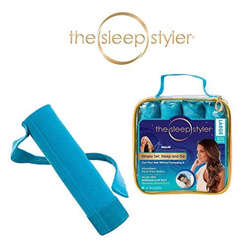 Allstar Innovations Sleep Styler: Die hitzefreien Lockenwickler für langes, dickes oder lockiges Haar, Größe L (15,2 cm), 8 Stück (Für Haar Rollen Hair Lockenwickler Big)