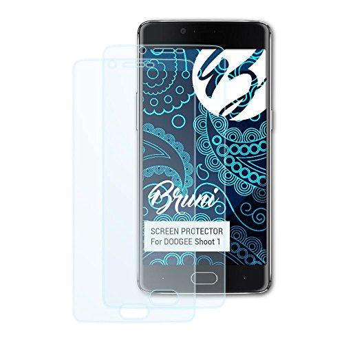 Bruni Schutzfolie kompatibel mit DOOGEE Shoot 1 Folie, glasklare Bildschirmschutzfolie (2X)