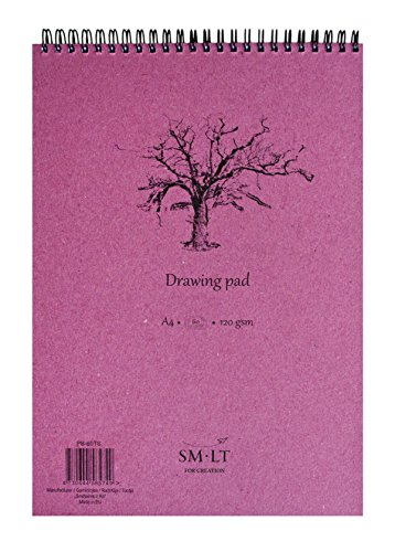 smlt-pb-60ts-authentic-line-cuaderno-para-bocetos-a4-papel-de-120-g-60-paginas-color-blanco