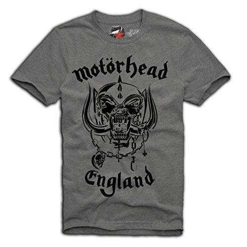 """E1SYNDICATE """"Motörhead"""" T-SHIRT S/M/L/XL LEMMY KILMISTER MOTORHEAD GREY"""