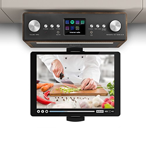 auna Connect Soundchef  Substructure Radio  Kitchen Radio  Under-counter Digital Radio  Internet Radio  DAB    FM  Bluetooth Function  2 x 3  Speakers  USB Port  10 Preset Stations  Including Remote Control  Walnut