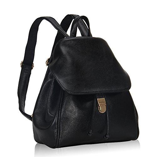Imagen de veevan  bolso de escuela de las mujeres del bolso de la muchacha de piel sintética negro  alternativa