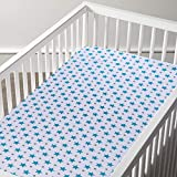 haus & kinder Muslin Cotton Fitted Crib Sheet, Hypoallergenic and Soft Breathable Fabric