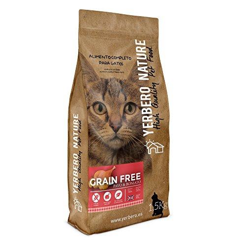 Yerbero NATURE GRAIN FREE PAVO pienso superpremium de para gatos 1.5kg