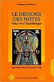 Le dessous des notes - Voies vers l'ésosthétique. Hommage au professeur Manfred Kelkel, 29 janvier 1929 - 18 avril 1999