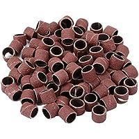 Dophee 100Piezas Juego de Tambor de lijado 1/2 (pulgadas) 80 Grit de herramientas rotativas con 2 piezas mandriles