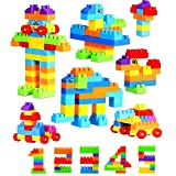 Planet of Toys 200 Pieces Building Blocks in Car Shaped Backpack