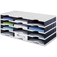 Styrodoc 268030498 Module de rangement Trio à 12 compartiments 723 x 331 x 293 mm (Gris/noir)