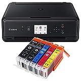 Canon Pixma TS5050 TS-5050 Farbtintenstrahl-Multifunktionsgerät schwarz + 5er...