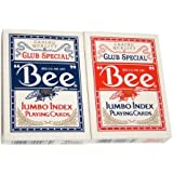 Brybelly Holdings PCP-2251 12 Bee No. 92 Diamond Back Club Special Red-Blue Decks Jumbo by Brybelly Holdings