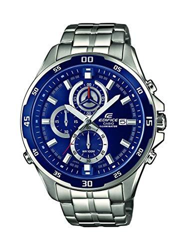 Casio Edifice Herrenarmbanduhr EFR-547D-2AVUEF, blau, massives Edelstahlgehäuse und Armband, 10 BAR