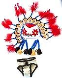 Réf1438 BB.222 - Ensemble 2 Pièces Bébé Enfant Garçon - Bonnet Coiffe Indien + Culotte - Crochet Fait Main - Cadeaux Props Photos de Naissance