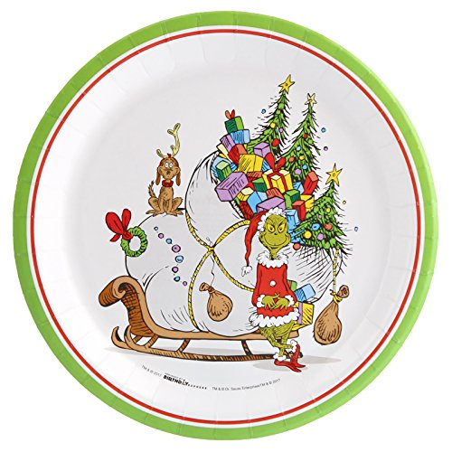 Birthdayexpress Dr. Seuss The Grinch Party Assiettes Plates (24)