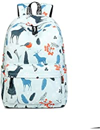 Inwagui Grand Sac d Ecole College Primaire Fille Ado Sac Dos en Polyester  Backpack Cartable Pour 9db251597d27