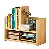 2 Tier Holz Bücherregal Regale Student Desktop Storage Tischregal Holz Bücherregal und Küchenregal