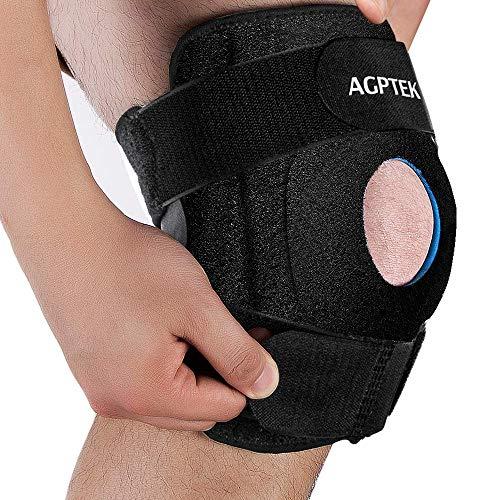 AGPTEK Kniebandage für Kniescheibe und Menisco, verstellbar, rutschfest, Neopren, für Laufen, Crossfit, Fitnessstudio, Schmerzlinderung