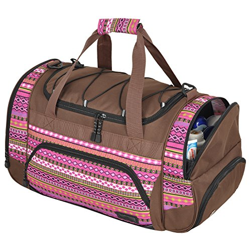 Die durchdachte Sporttasche KEANU Fitness Yoga Sauna mit XL Getränkenetz :: grosse multifunktionale Tasche für Gym Sport Sauna Reise Wellness :: Reisetasche - Auswahl Indian Lilac