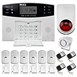 BW LCD Seguridad inalámbrica GSM Autodial SMS Call Home Casa antirrobo alarma contra intrusos: GSM Alarm Control Host +...