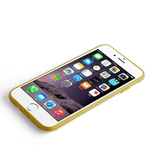 JAMMYLIZARD | Coque transparente avec cadre de protection en silicone pour iPhone 6 6s, écran 4.7 pouces, Rose fuchsia INVISIBLE avec cadre OR