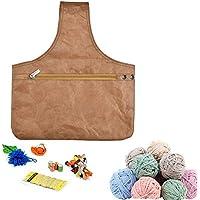 KOBWA - Bolsa para Tejer, Organizador de muñecas de Hilo con Cremallera, Ligera, tamaño Llevar madejas, Agujas de Tejer y ganchillos de Crochet 35 x 30,5 cm