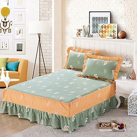 CHENGYI Green Letter Pattern Tagesdecken Baumwoll Single Piece Bett Rock Twill Home Thicker Bett Bettwäsche ( größe : 150*200cm (Thickers Letters)
