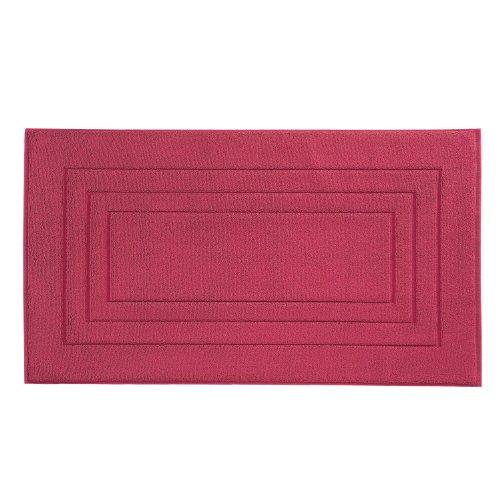 Vossen 1149410377 Feeling - Badeteppich, 67 x 120 cm, cranberry - Cranberry Farbe Teppich