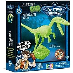 Dr. Steve Hunters cl1652K–Juegos Jurassic Night Glow in the Dark Velociraptor
