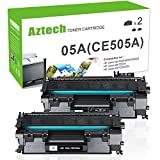 Aztech 2 Pack 05A Kompatibel für Toner HP CE505A 05A CE505D HP P2055DN Toner für HP Laserjet P2055DN P2035 Toner HP 2055 Toner Druckerpatronen Schwarz Toner