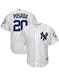 Majestic Jorge Posada   20 New York Yankees Cool Base MLB Maglia W Retire  Ment fda256f3918a