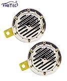 #5: Fabtec High Performance Impact Horn Double Vibrating Horn for Car & Bike 12V Chrome (Set of 2)
