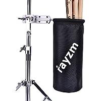 Rayzm Funda/Bolsa para baquetas, Nylon Oxford 1680D con enganche de aluminio para soporte de batería con diámetro de 1,5 a 3 cm. Capacidad de hasta 12 pares de baquetas.
