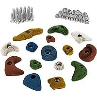 ALPIDEX 15 presas set de iniciación para niños, tornillos y - 30 tuercas de inserción inclusive, Color:mixto