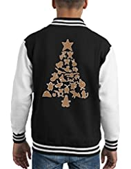 Pokemon Gingerbread Christmas Tree Kid's Varsity Jacket