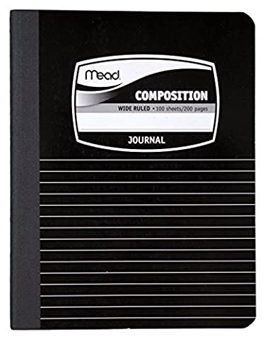 Mead Composition Book, Journal / Notebook, 9-3/4 x 7-1/2, Black