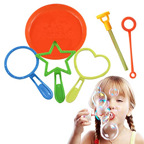 Ndier Bubble Wands Mini Bubble Toys Verschiedene Farben und Stil Sommeraktivitäten (zufällige Farbe) 1 Set
