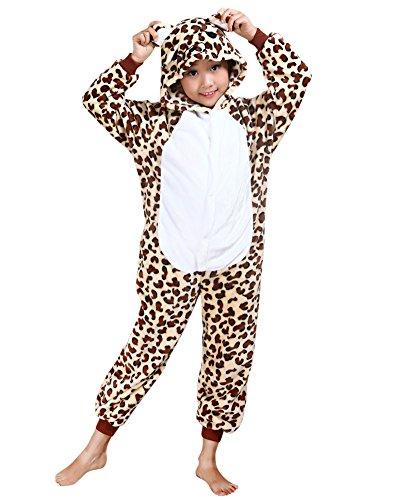 Imagen de pijama de una pieza  disfraces de animales de halloween  para niña y adolescentes oso de leopardo l