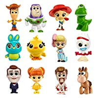 Disney Pixar Toy Story 4 Mini Movie Character Figure for Story Play at Home and On the Go, Kids Gift, Ages 3 and up, random model