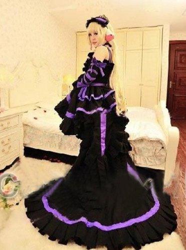s Chii Lila Lolita cosplay kostum,Maßgeschneiderte(Mailen Sie uns Ihre Größe),Größe S: Höhe 155cm-160cm (Chobits Chii Kostüm)