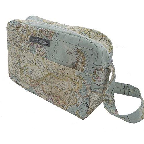 Mutterschafts-Tasche für Koffer Krankenhaus und für den Kinderwagen des by mimuselina Weltkarte