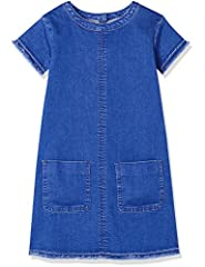 Idea Regalo - RED WAGON Denim Shift DressVestito Bambina, Blu (Multi), 110 (Taglia Produttore: 5 Anni)