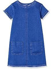 Idea Regalo - RED WAGON Denim Shift DressVestito Bambina, Blu (Multi), 110 (Taglia Produttore: 5 Anni)