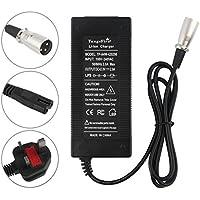 TangsFire - Cargador eléctrico para Scooter (36 V, 42 V, 2 A, Conector XLR Macho)