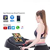 Fitifito FT880 Profi Laufband 7,5PS 22km/h mit 10,1 Zoll Touchscreen Android Wifi App 22 Trainingsmodulen inkl. HRC - 2