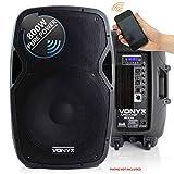"VONYX Active Powered DJ PA Speaker Wireless Bluetooth Audio Streaming 15"" 800W"