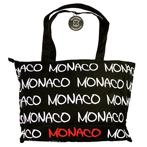 Robin Ruth - Sac Shopping Monaco - Couleur : Noir, Blanc