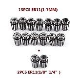 Set Di 15Pz ER11 Pinze Di Serraggio Per Incisione Tornio Fresatura CNC Chuck Tool