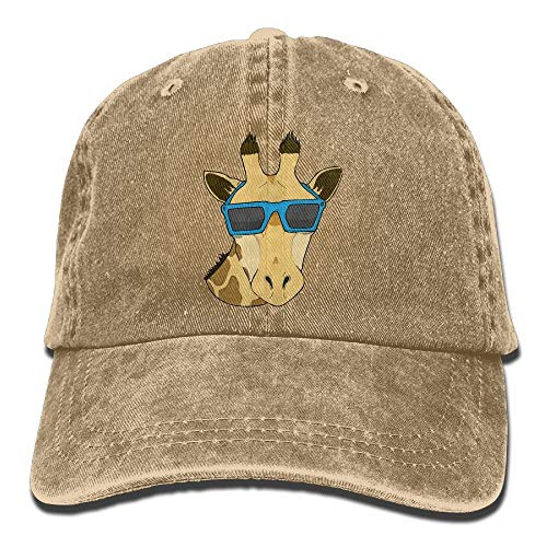 Dama Home Giraffe mit Sonnenbrille Art Denim Baseball Caps Cooler Sommerhut Einstellbare Baumwolle Sport Strap Cap für Männer Frauen